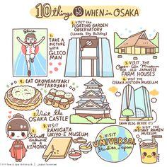 10 Dinge, die man in Osaka tun kann.