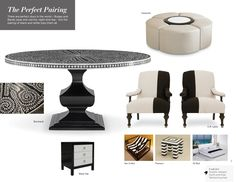 Trend: The Perfect Pairing High Point Market, Day For Night, Be Perfect, Color Trends, Dining Table, Decor Ideas, Pairs, Decorating, Black And White