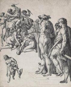 Hendrik Goltzius (1558-1617) The Massacre Of The Innocents 1584 (455 x 375 mm)