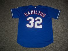 Josh Hamilton Texas Rangers MLB Authentic Majestic Jersey-48 (USED) #TexasRangers