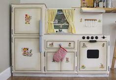 Vintage kids play kitchen