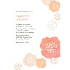 watercolor blooms invite