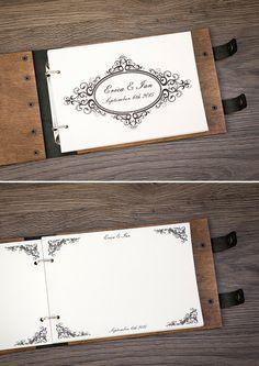 Guest Book Gästebuch benutzerdefinierte Gästebuch von woodlack