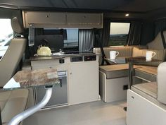 image1 Campervan Interior Volkswagen, Vw T5 Interior, Vw Transporter Camper, Kombi Motorhome, Campervan Conversions Layout, Minivan Camper Conversion, Vauxhall Vivaro Camper, Build A Camper Van, Luxury Van
