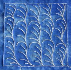 The Free Motion Quilting Project: Day 41 - Sea Algae (intermediate)