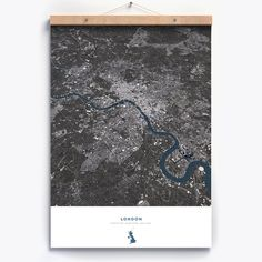 Art-Poster and prints Wall Editions : London England Design Map, by Luis Dilger. Illustration Format : 50 x 70 cm Design Shop, Map Design, Poster On, Poster Wall, Poster Prints, Open Street Map, City Layout, City Maps, New Perspective