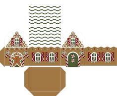 Free Printable Boxes for Christmas. Christmas Craft Fair, Christmas Ornaments To Make, Christmas Gift Box, Miniature Christmas, Christmas Gingerbread, Christmas Paper, Christmas Holidays, Christmas Decorations, Printable Box