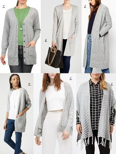 Want It Style Wishlist Look One – The Long Grey Cardigan