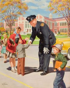 Artist: Henry Hintermeister Born New York (father from Switzerland) American illustrator Henry Hintermeister and h. John Newton, Cops Humor, Pin Up, Political Memes, Politics, Vintage School, Norman Rockwell, Illustrations, The Good Old Days