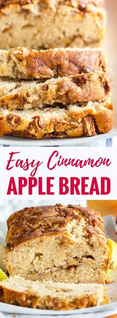 Apple Cinnamon Bread is quick and easy to make from scratch and makes your house smell amazing! Swirled with delicious spiced apples and topped with cinnamon sugar, this quick bread recipe is sure to be a fall favorite.