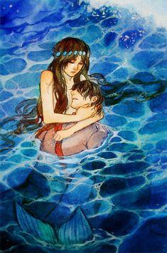 Little Mermaid - Saving the Prince by Qinni.deviantart.com on @DeviantArt