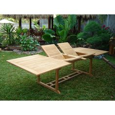 teak garden table Teak Garden Furniture, Outdoor Furniture, Outdoor Decor, Garden Table, Patio Table, Tree Seat, Extension Table, Table And Chair Sets, Adirondack Chairs