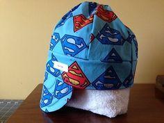 Superman  Size 7 5/8 Welding hat/Reversible Welders Cap, Pipefitter