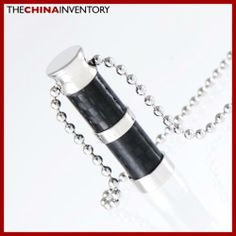STAINLESS STEEL CARBON FIBER TUBE PENDANT P1108 Initial Pendant, Wholesale Jewelry, Carbon Fiber, Initials, Tube, Fashion Jewelry, Stainless Steel, Diamond, Trendy Fashion Jewelry
