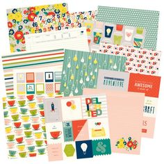"""Shimelle """"True Stories"""" CHA Winter 2015 (no release date given). I want the papers with heart tea cups, """"Starbucks"""" cups, and light bulbs. ScrapbookObsessionBlog.com"""
