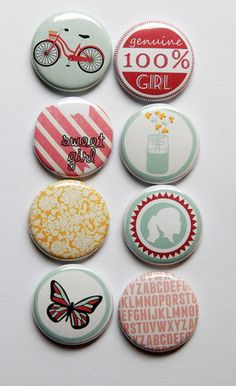 Sweet Flair by aflairforbuttons on Etsy, $6.00