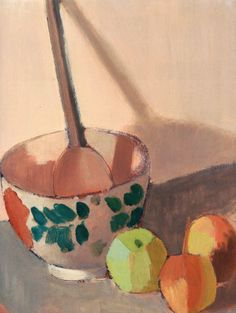 Still Life with Bowl, Spoon and Apples 1913 by Mark Gertler