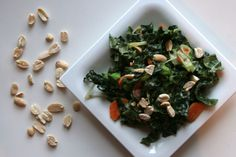 Kale & Carrot Salad with Ginger-Peanut Dressing | Daily Bites