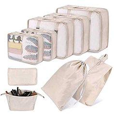Mouse Sleeping On The Moon 3 Set Packing Cubes,2 Various Sizes Travel Luggage Packing Organizers r