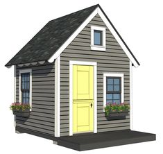 Traditional Playhouse Plan Playhouse With Loft Plan 10x10 Shed Plans, Lean To Shed Plans, Run In Shed, Free Shed Plans, Storage Shed Plans, Diy Storage, Outdoor Storage, Kids Playhouse Plans, Backyard Playhouse