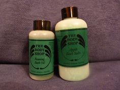 I remember when The Body Shop product packaging looked like this. I miss those days.