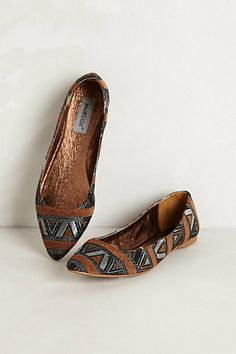 Mexicali Embroidered Flats | anthropologie