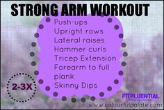 The Strong Arm from Colourful Palate #FitFluential