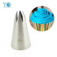 #2110 #1 M Bico Dicas De Decoração Do Bolo de Aço Inoxidável Tubo de Escrita De Bico de Confeiteiro Baking & Pastry Ferramentas de Cozimento ferramentas Para Bolos(China (Mainland))