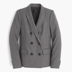 J.Crew+-+Double-breasted+blazer+in+Super+120s+wool
