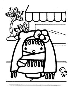 Marvelous Nerdy Hello Kitty Coloring Pages For Minimalist Article