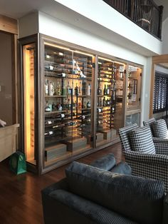 Customize and submit your wine rack with a few simple clicks. Glass Wine Cellar, Home Wine Cellars, Wine Cellar Design, Wine Cellar Modern, Wine Cellar Basement, Wine Wall, Wine Rack Wall, Home Bar Designs, Bars For Home