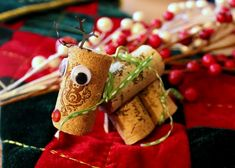 Wine Cork Reindeer Ornaments Craft