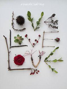Love photo message. Woodland arrangement 8x10. Garden wedding, valentine, anniversary, birthday print. Simple home decor. Wall art. (e0904). $25.00, via Etsy.