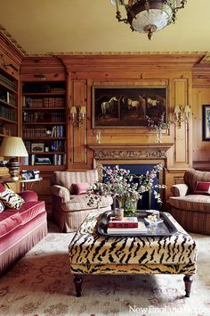 Interior designer Timothy Corrigan's Château du Grand-Lucé is for sale. This century chateau is located on 74 acres in France's Loire Valley! The chateau… Classic Decor, Classic Interior, Classic Style, Modern Interior, Architectural Digest, Br House, American Interior, Enchanted Home, New England Homes