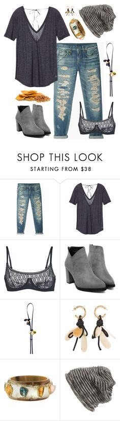 """""""Mangos & almonds"""" by shelliquinn ❤ liked on Polyvore featuring R13, Victoria's Secret, ELSE, Marni, Ashley Pittman, Grace Hats and destroyedjeans"""