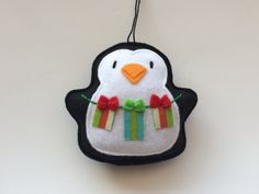 Felt Ornaments Tree Trimming Penquin Set-Tree by GingerSweetCrafts