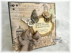 Birdcage & butterfly card