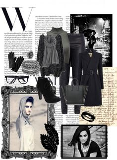 """party black"" by inerufaidah on Polyvore"