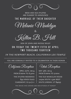 Wedding Invitation Ideas   Utah Announcements   www.utahannouncements.com