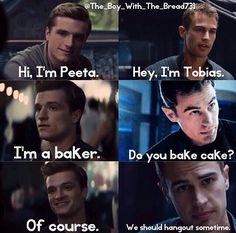 Haha a little divergent / hunger games humor I found on Instagram ! Who is excited for divergent and mocking jay part 1 ?! I am