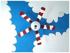 Dr. Seuss Cat in the Hat Fan Blades by FunkyLetterBoutique on Etsy, $75.00