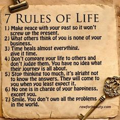 7 rules of life - RAW FOR BEAUTY