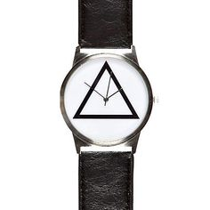 Black triangle face watch - watches - watches - men