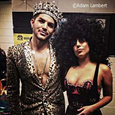 Adam and lady gaga