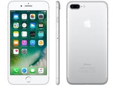 "iPhone 7 Plus Apple 32GB Prateado 4G Tela 5.5"" - Câm. 12MP   Selfie 7MP iOS 10 Proc. Chip A10"