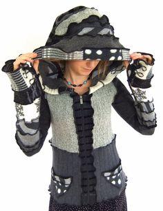Patchwork Fairy hOOdie  Zippy Sweater  klein von Fairytea auf Etsy