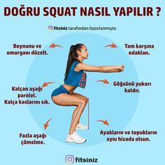 """Siz Bizimle Fitsiniz! on Instagram: """"Squat ve Lunge egzersizini hepimiz yapıyoruz değil mi? Peki ya doğru yaptığınızdan eminiz miyiz? Eğer squat yaparken dizinizde ağrı…"""" Gym Workouts, Squat, Fitness, Instagram, Squat Bum, Workout Exercises, Squats, Exercise Workouts, Gymnastics Workout"""