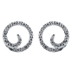 Simple and yet sparkling swirl style studs for a little diamond accent in your ears. Elegant and classy, they will last you for a long time to come. Priced upon request.