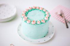 ribbon rose cake - coco cake land