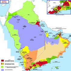 What Saudi Arabia and its neighbors looked like 100 years ago